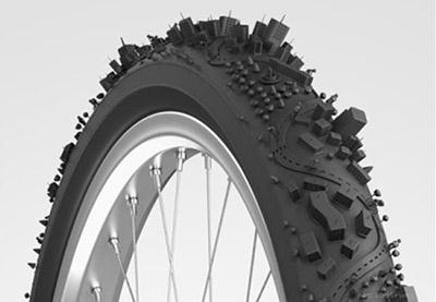 插画师呈现出的神奇世界——轮胎上的城市