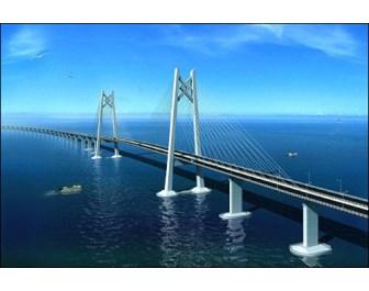 港珠澳大桥桥墩上安装了时代新材研制的橡胶隔震支座.-橡胶是特种